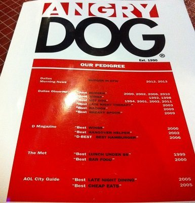 The Angry Dog in Dallas Texas