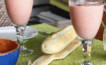 aardbeiensmoothie voor ontbijt