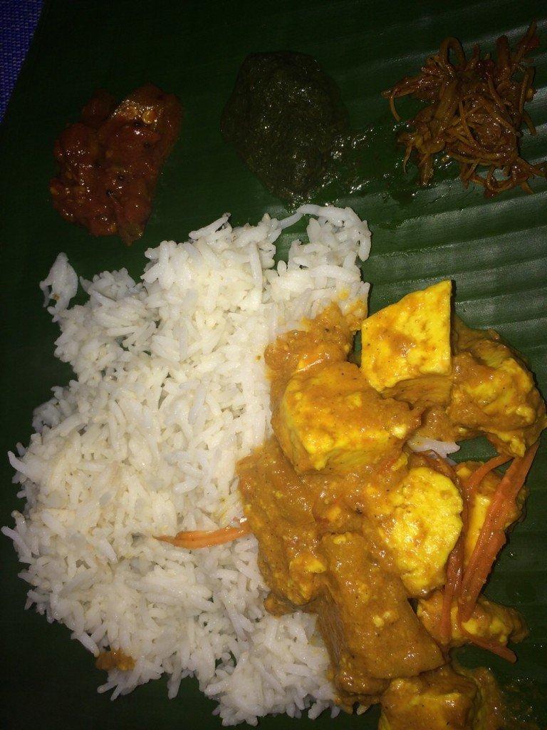 Curry bij Restaurant Amore in Kalaw