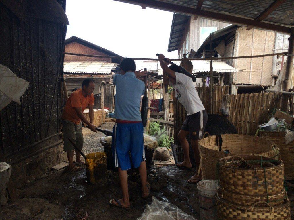 Sticky rice tot moes slaan, Inle Lake Myanmar