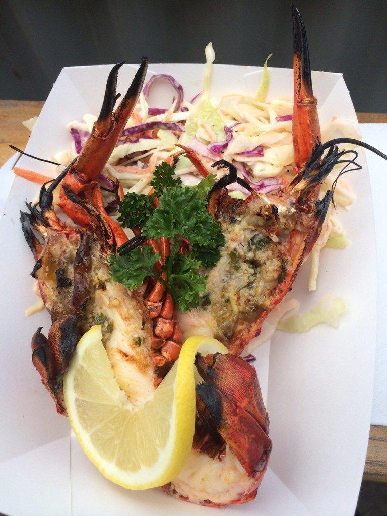Gegrilde Marron Lekker eten in Australië Kangaroo Island fishfood vers