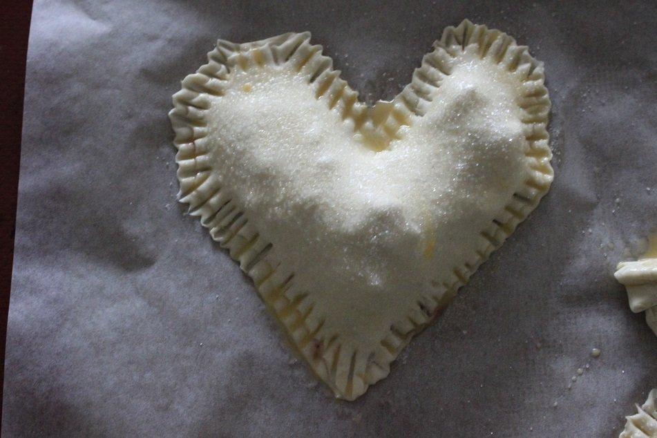 Valentijn zoete snack, dessert voor de oven