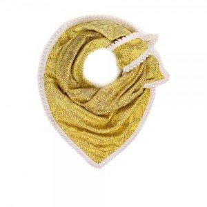 Gele pom shawl musthave lente kriebels