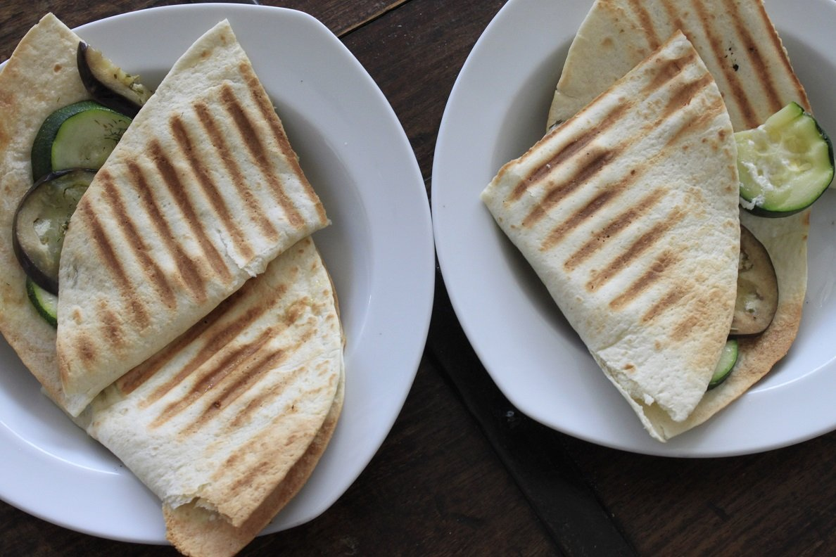 Wrap met feta en courgette simpel en snel lunchgerecht