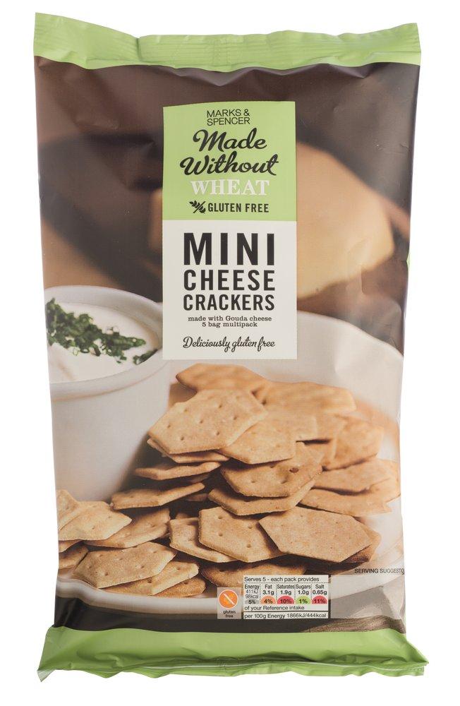 M&S glutenvrije eetlijn mini kaascrackers