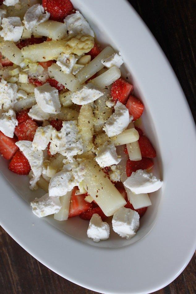 Asperge aardbei geitenkaas salade foodblog foodinista