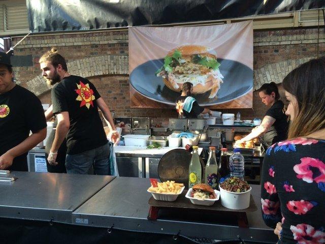 Krab burgers Victoria Night Market Melbourne Australisch fastfood