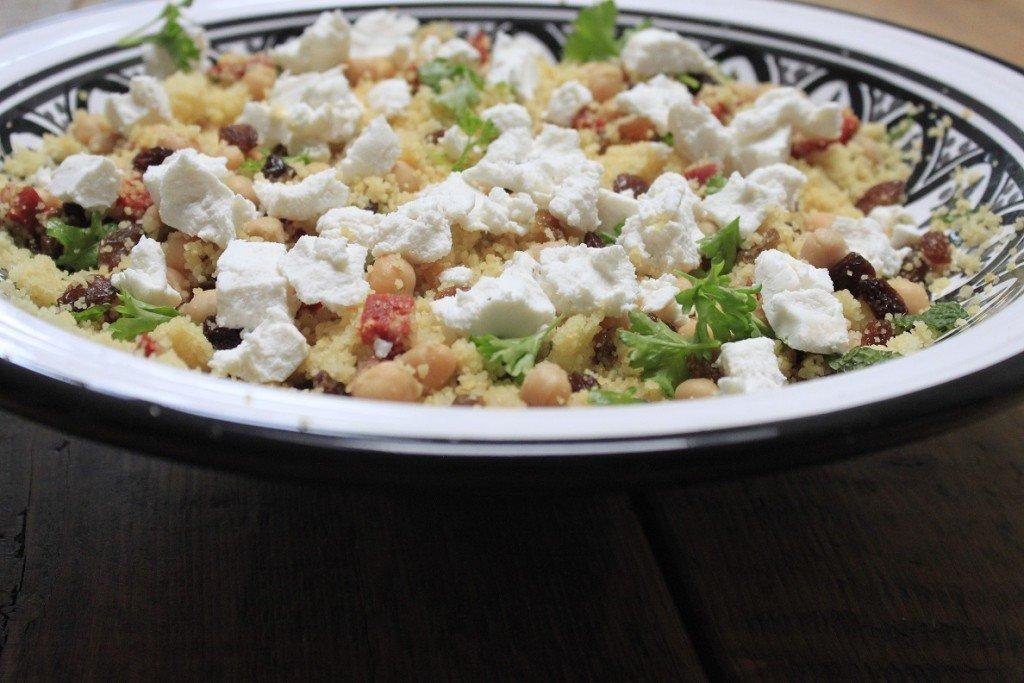 Couscous met geitenkaas en chorizo recept foodblog Foodinista