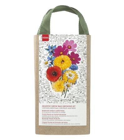 Groeizak verse bloemen cadeau meester en juf