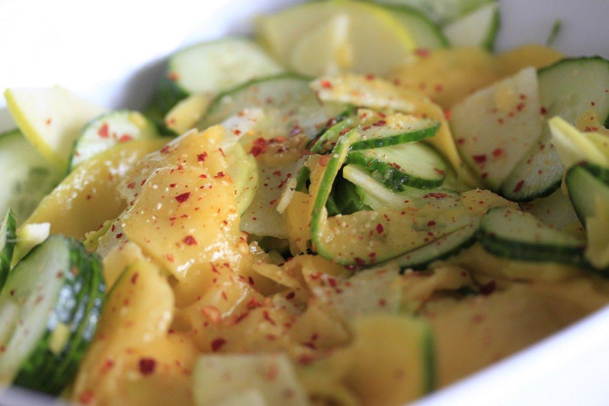 Recept frisse komkommer mango salade