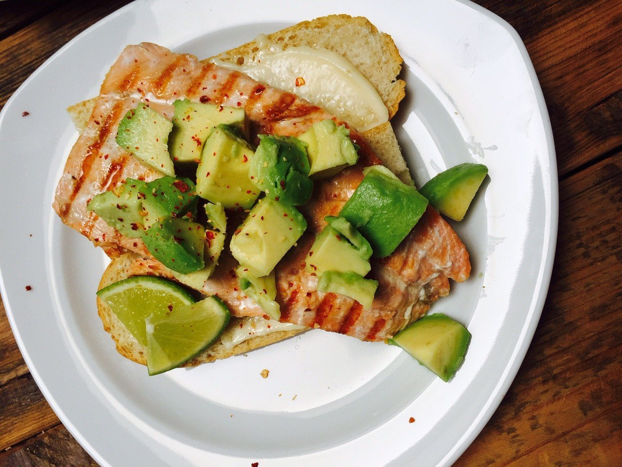 Gegrilde zalm sandwich recept foodblog Foodinista