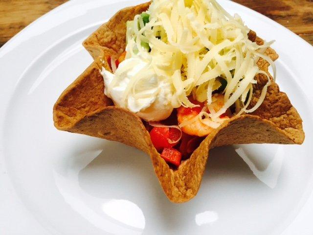 Scampi tortilla recept Foodblog Foodinista