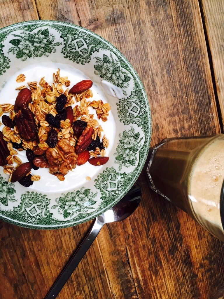 Honing granola met noten recept foodblogger foodinista