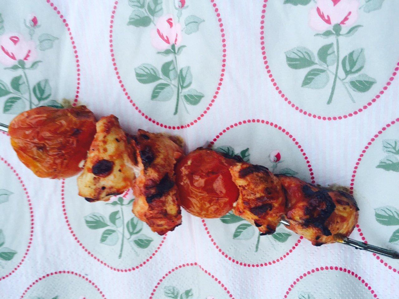 Kip tomaten spiesen recept foodblog Foodinista
