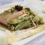Zalm hoofdgerecht whit diner foodblog Foodinista