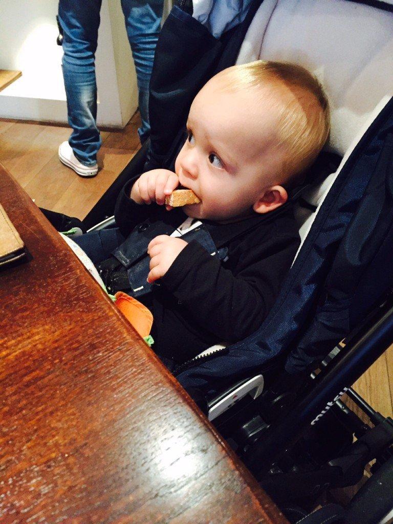 Florian lunch met opa en eetdagboek