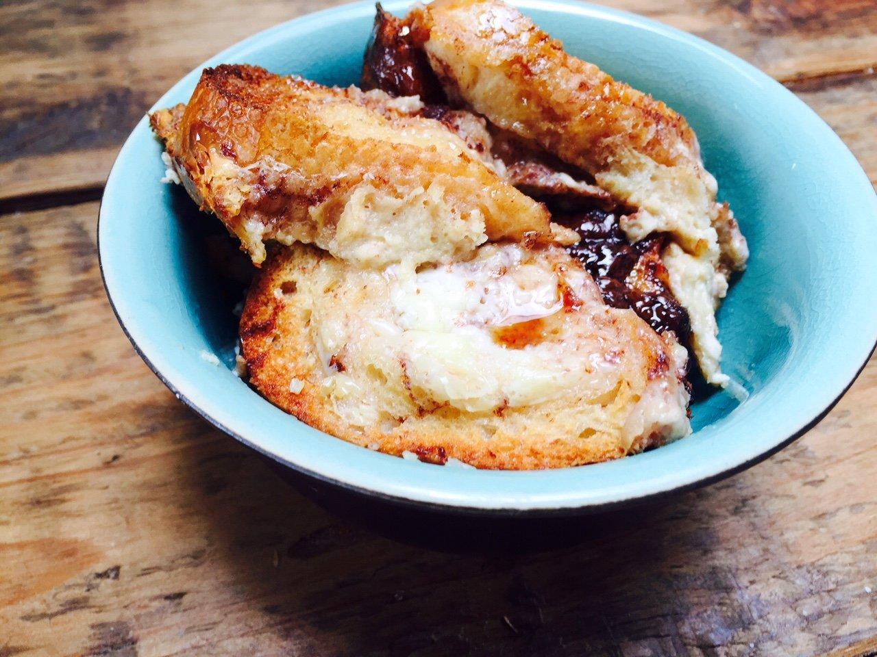 Recept wentelteefjes met Nutella en mascarpone receptblog Foodinista