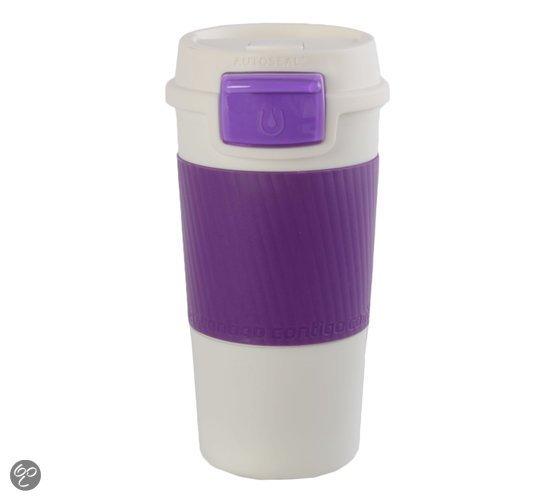 Favoriete koffie to go mug contigo beker paars foodblog Foodinista
