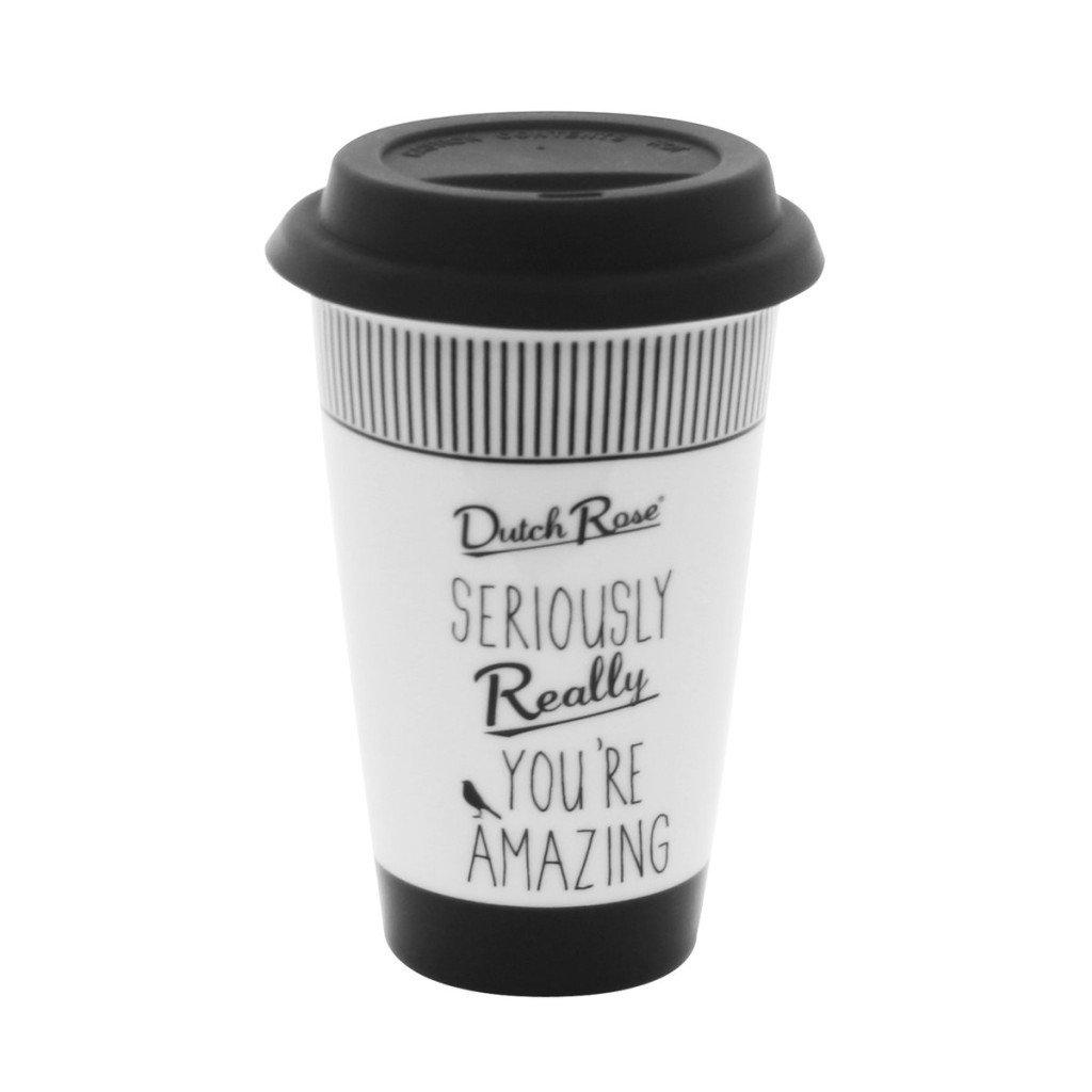 Dutch Rose Ochtenhumeur koffiebeker zeg het met een koffie mok favoriet foodblog Foodinita