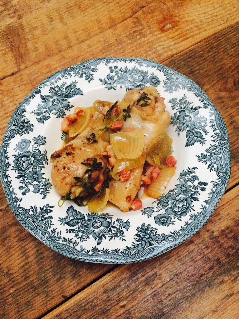 Gestoofde drumsticks in bier recept foodblog Foodinista