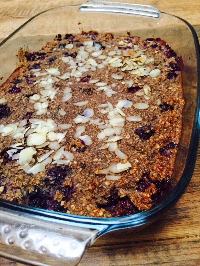 Ontbijtcake met chocolade receptblog Foodinista gezondermaand