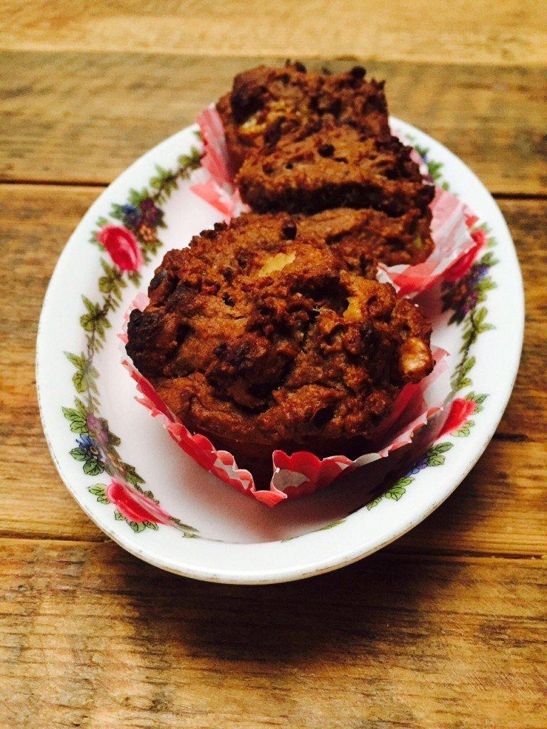 Chocolademuffins ontbijtrecept gezondermaand Foodblog Foodinista