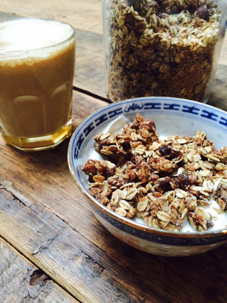 Gezouten caramel granola recept receptblog Foodinista