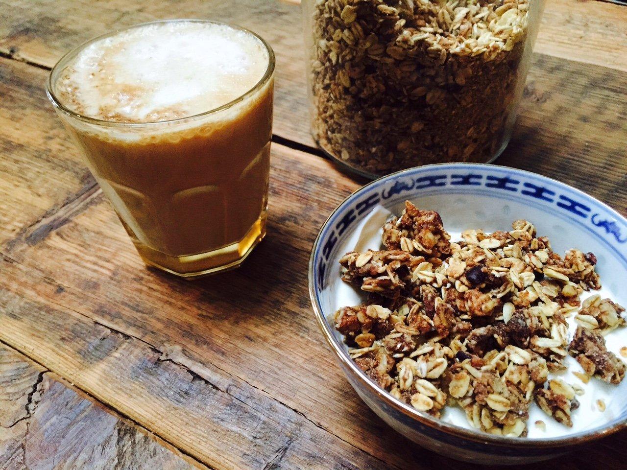 Gezouten caramel granola recept foodblog Foodinista