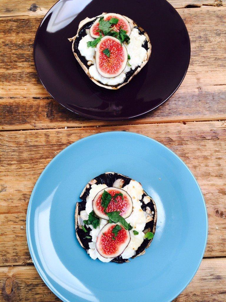 Portobello geitenkaas met vijgen recept gezondermaand foodblog Foodinista