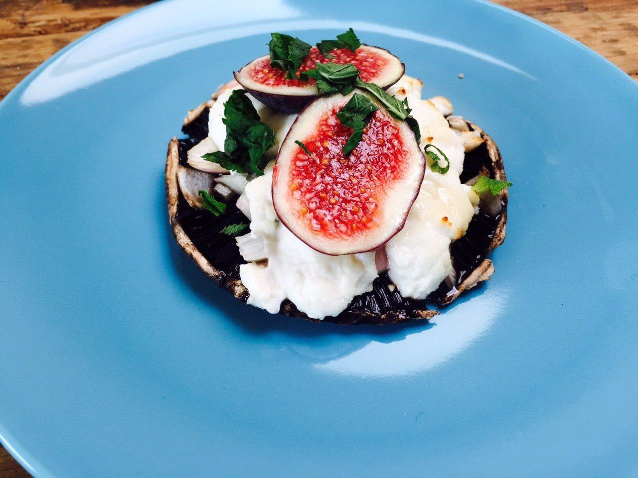 Portobello met geitenkaas en vijgen recept receptblog Foodinista