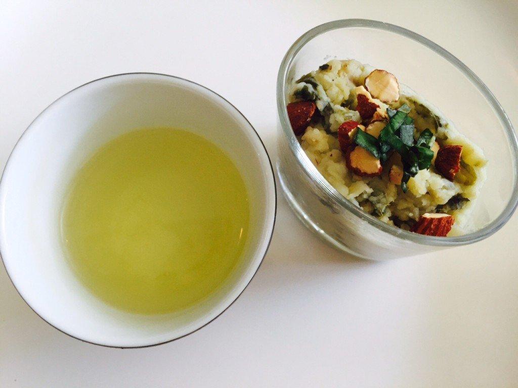 Witte thee met andijviestamppot Thee proeverij foodblog Foodinista oktober eetdagboek