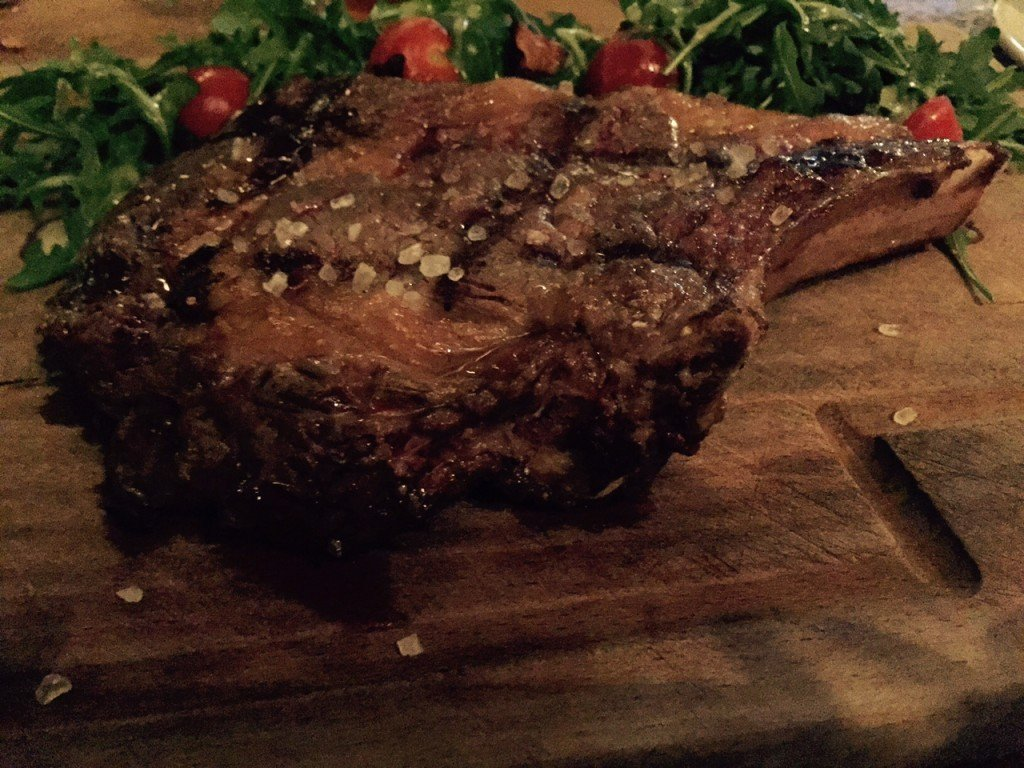 Steak wisselend gerecht krijtbord Bierfabriek Amsterdam Delft Foodblog Foodinista