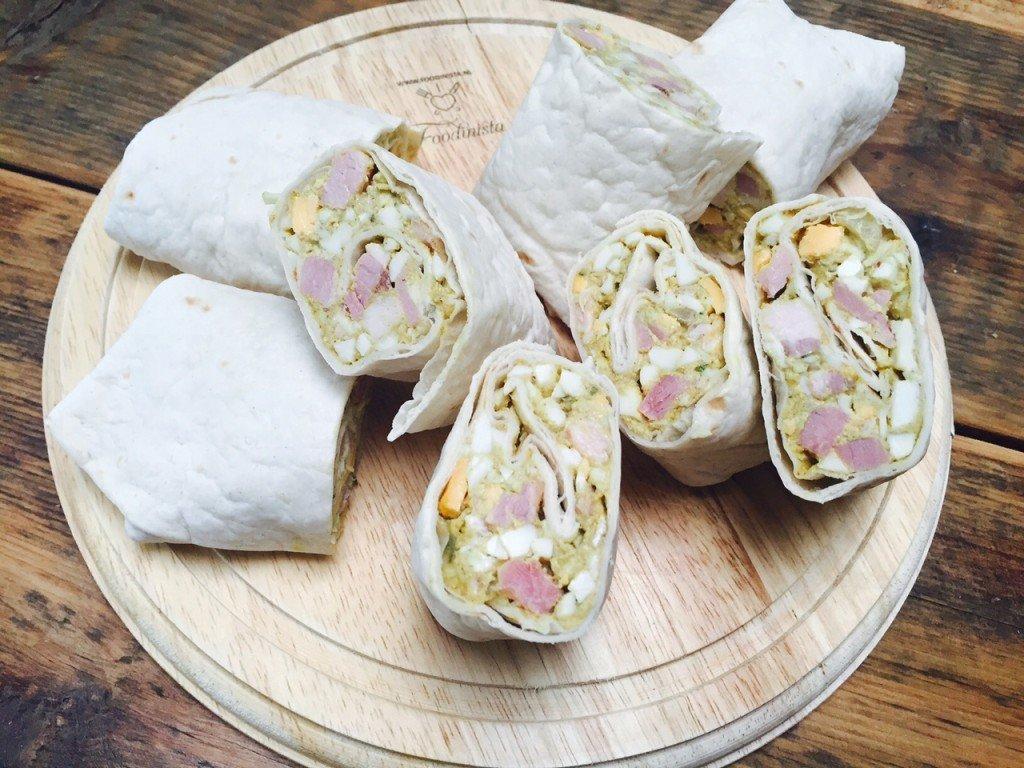 Eierwraps met Vadouvan kruiden recept receptblog Foodinista