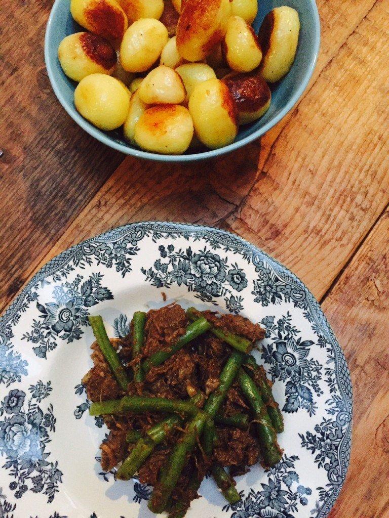 Stoofschotel Vadouvan met sperzieboontjes recept foodblog Foodinista
