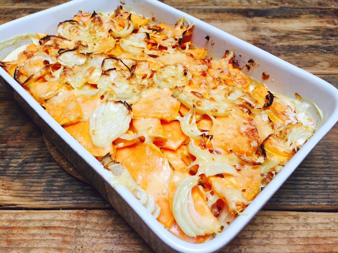 Zoete aardappel gratin recept receptblog Foodinista