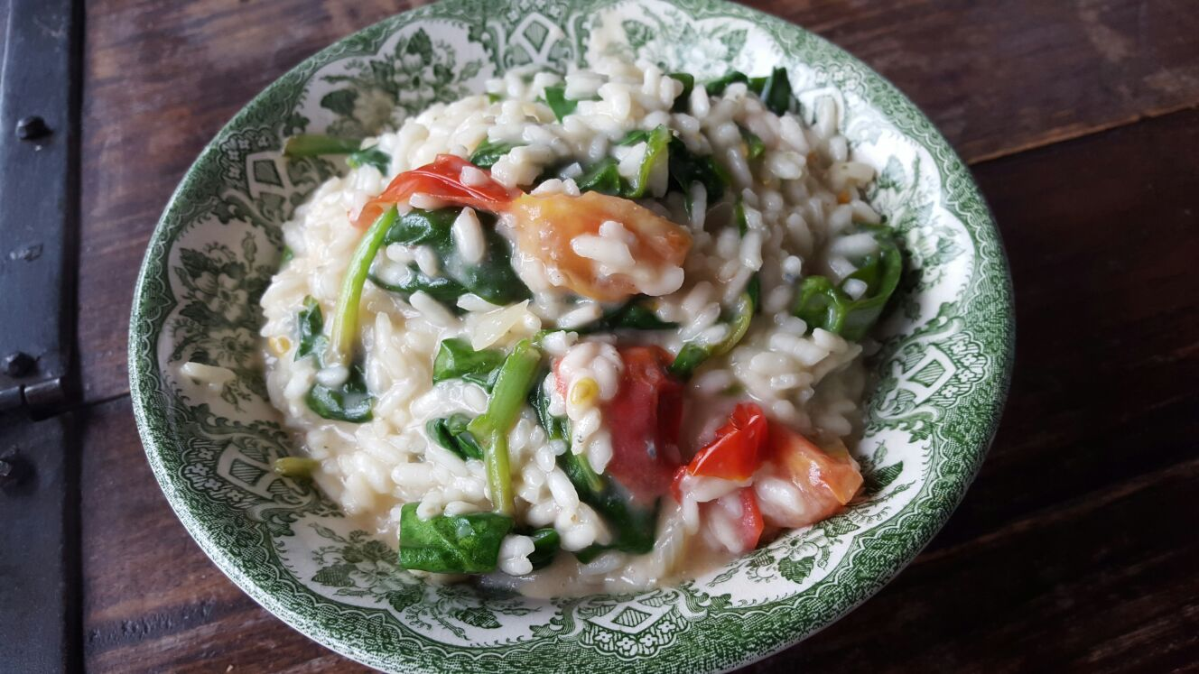 Risotto met spinazie en gorgonazola recept van foodblog Foodinista