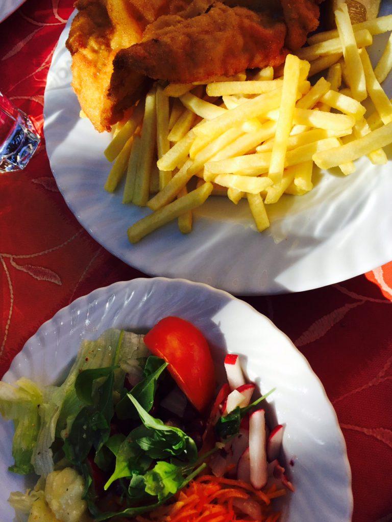 Schnitzel met salade in Oostenrijk kidsproof tips foodblog Foodinista