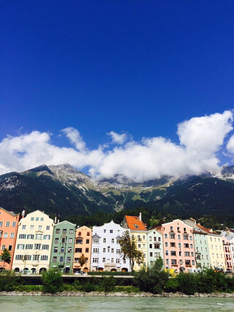 Uitzicht vanaf het terras in Innsbruck