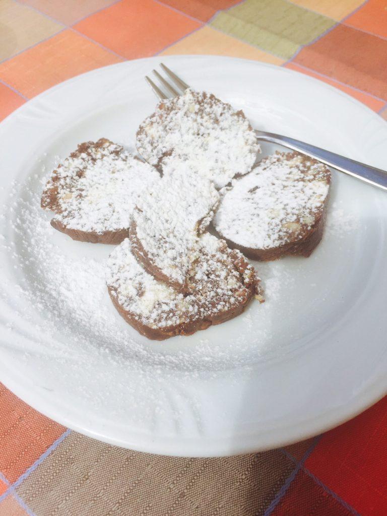 Eten bij nonna in toscane Salame di ciocolatte