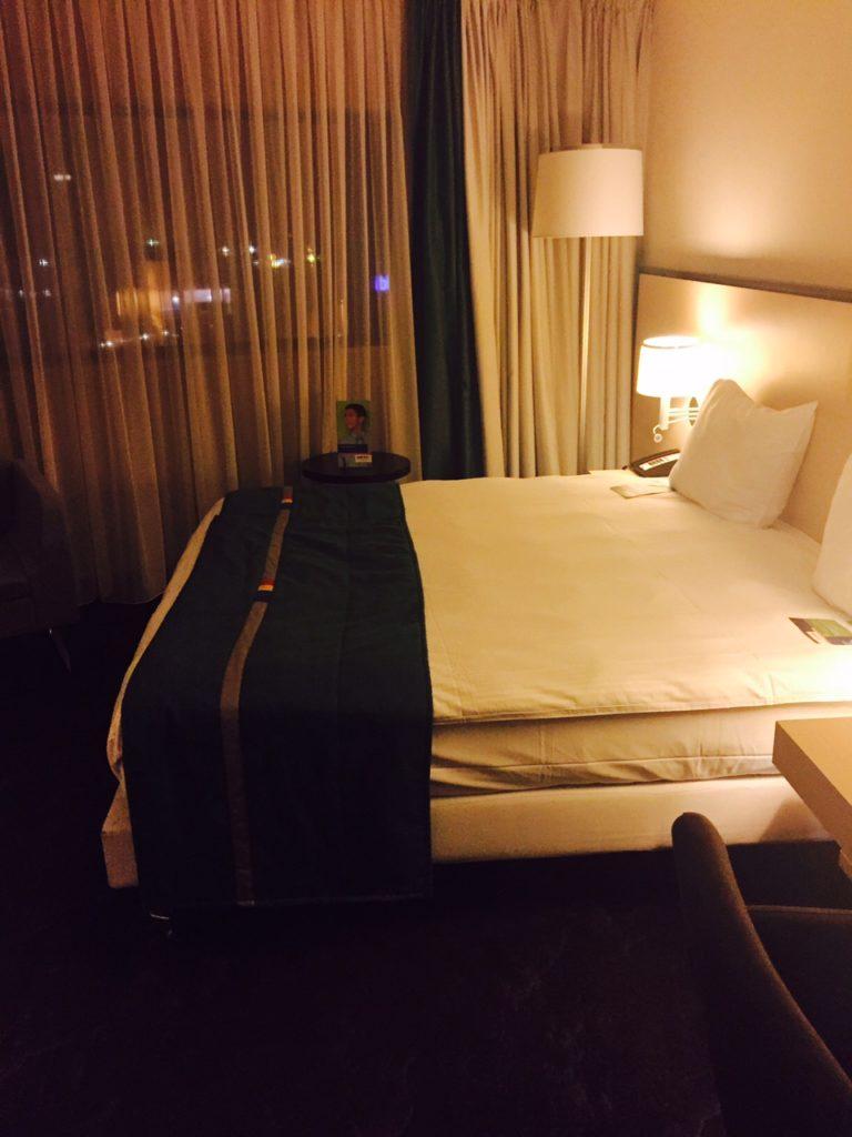Overnachten in Leuven bij Park Inn by Radisson SAS onze kamer in Leuven