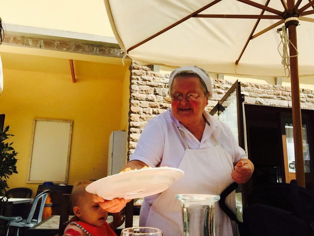 Eten bij nonna in Greve Chianti