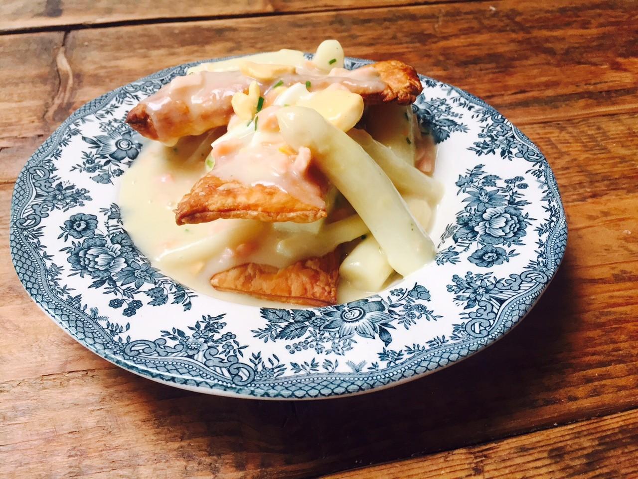Aspergetompoes recept met romige aspergesaus foodblog Foodinista