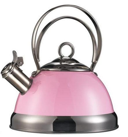 Roze in de keuken rose fluitketel van Wesco