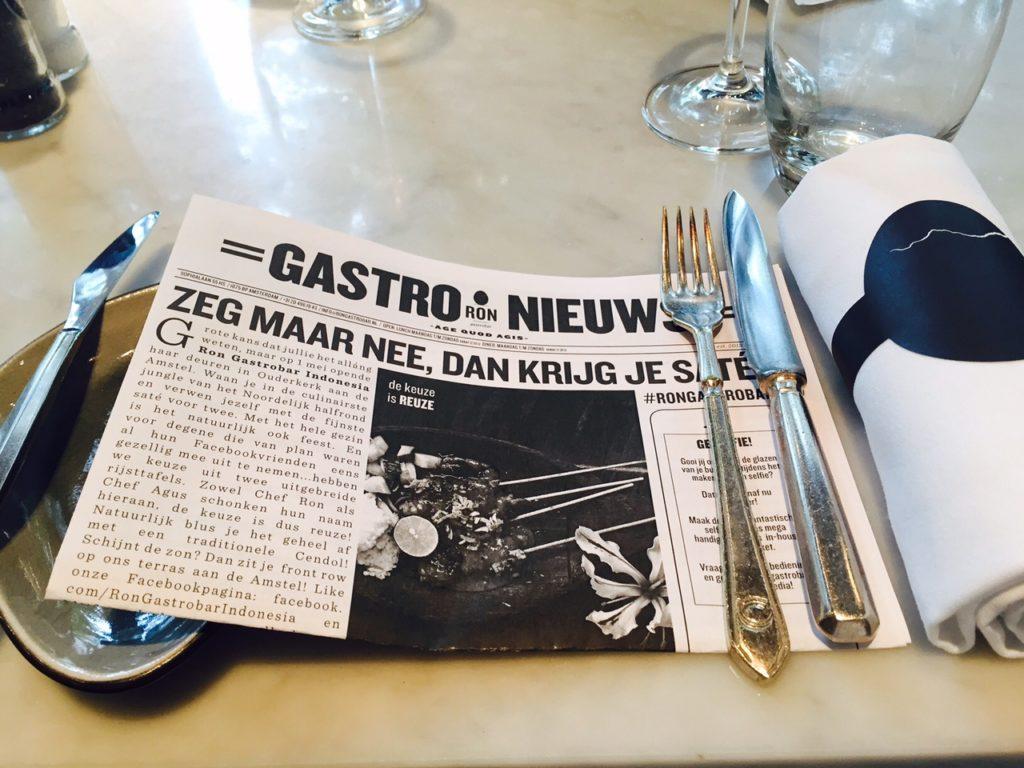 Lunchen bij Ron Gastrobar Amsterdam Foodblog Foodinista