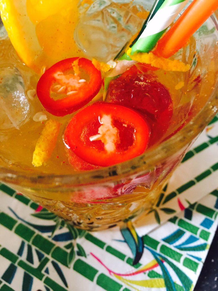 Spicy Orange cocktail met Teisseire