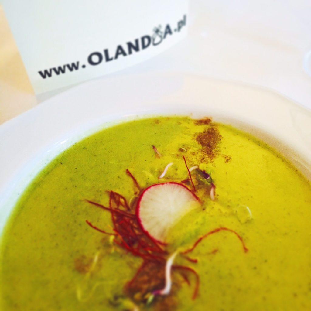 Courgettesoep met witte chocolade Hotel Olandia Wielkepolska foodblog Foodinista