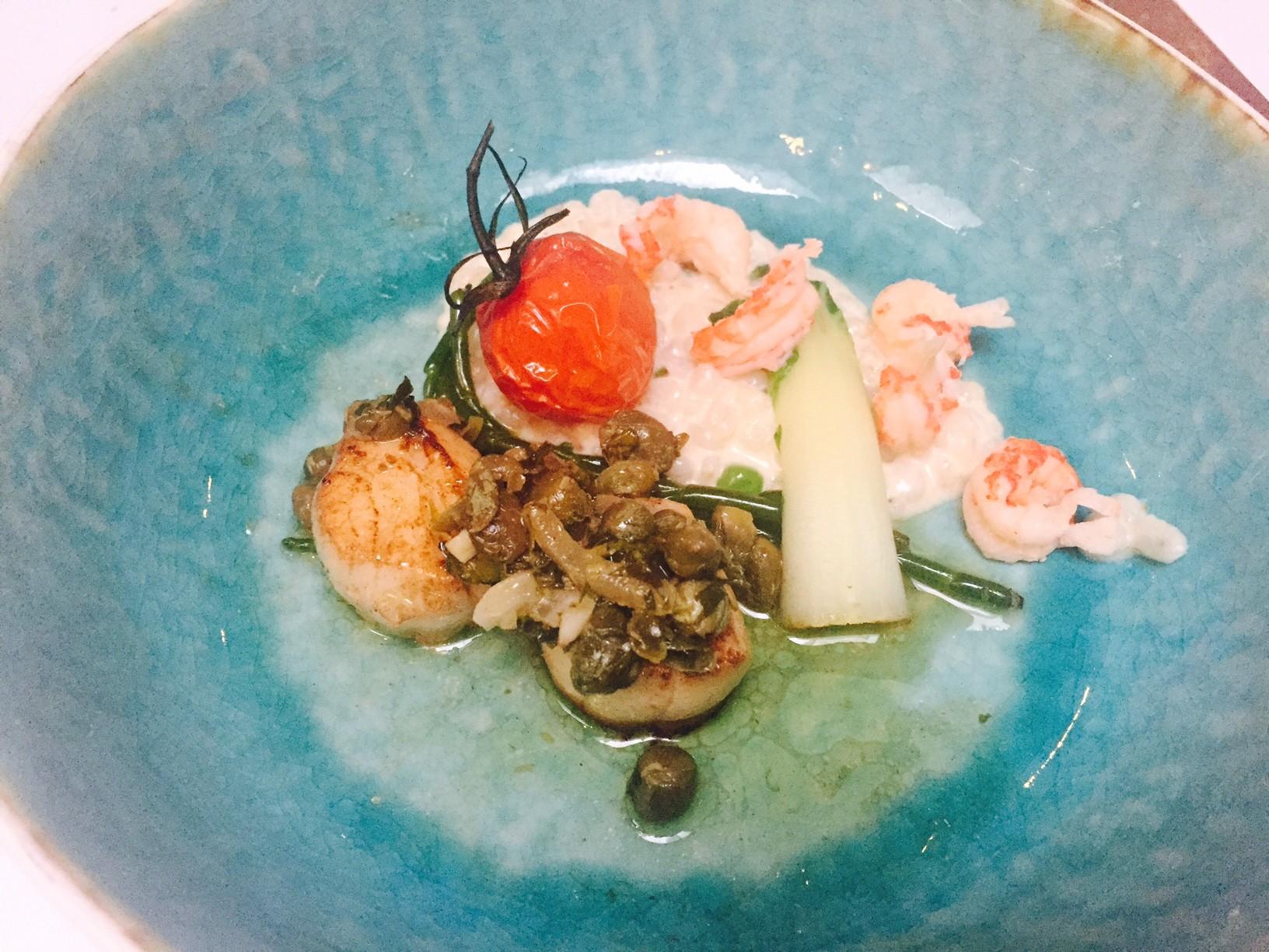 Coquilles met parelgort risotto weekendje apeldoorn kingstreet restaurant Bilderberg Keizerskroon foodblog Foodinista