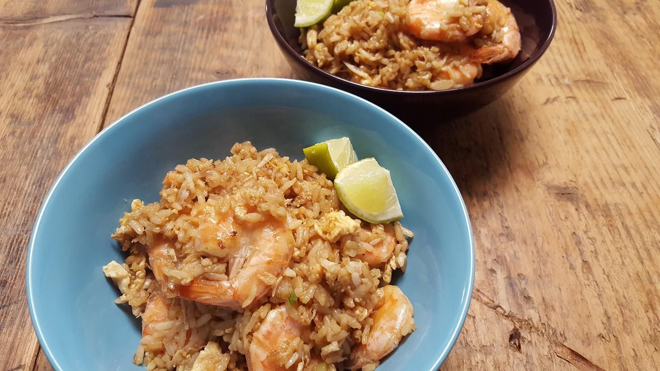 Thaise gebakken rijst met krab en garnalen foodblog Foodinista
