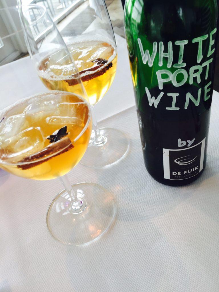 White Port cocktail Restaurant de Fuik Foodblog Foodinista