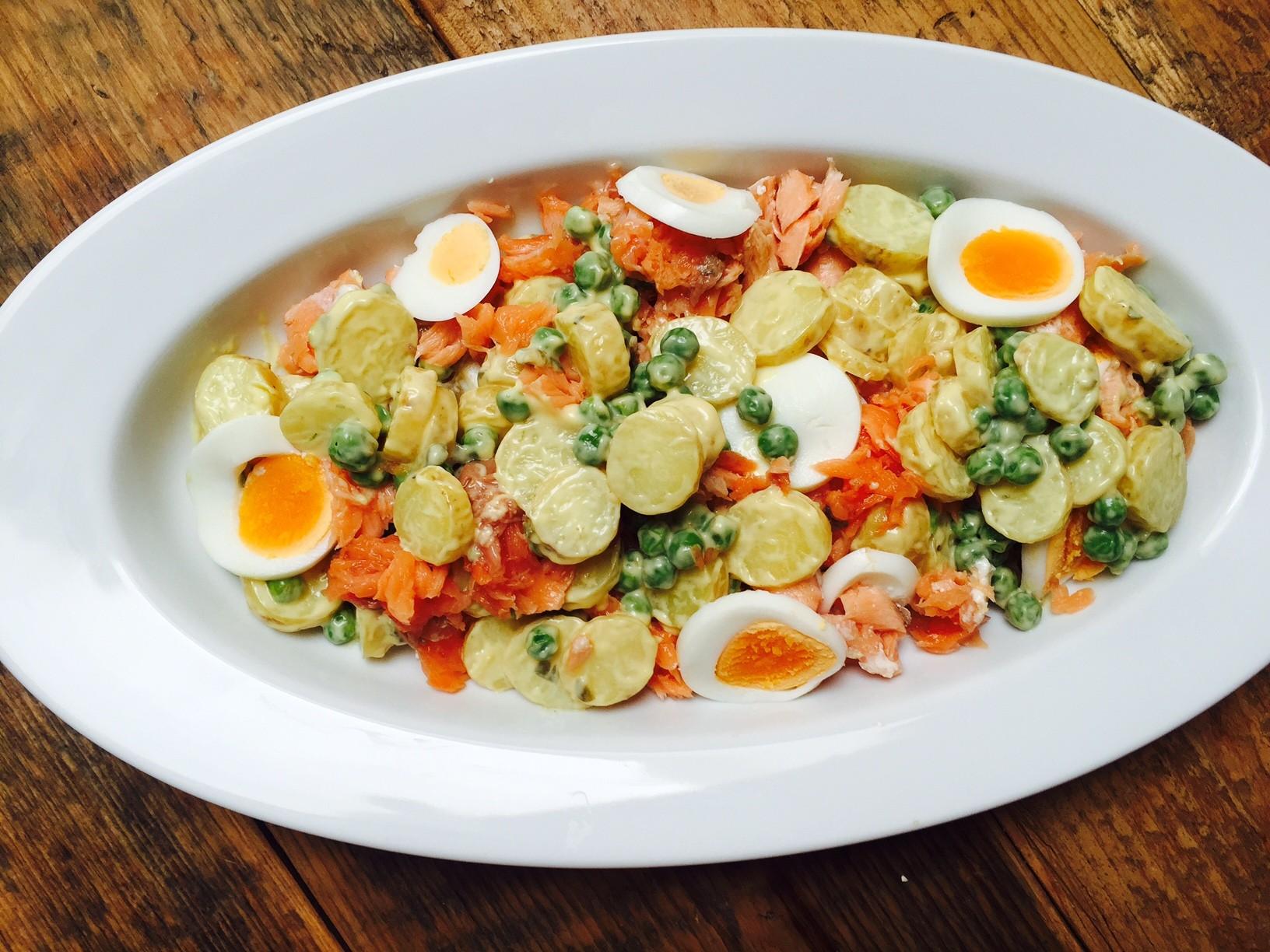 Zalmsalade met krielaardappeltjes recept van foodblog Foodinista